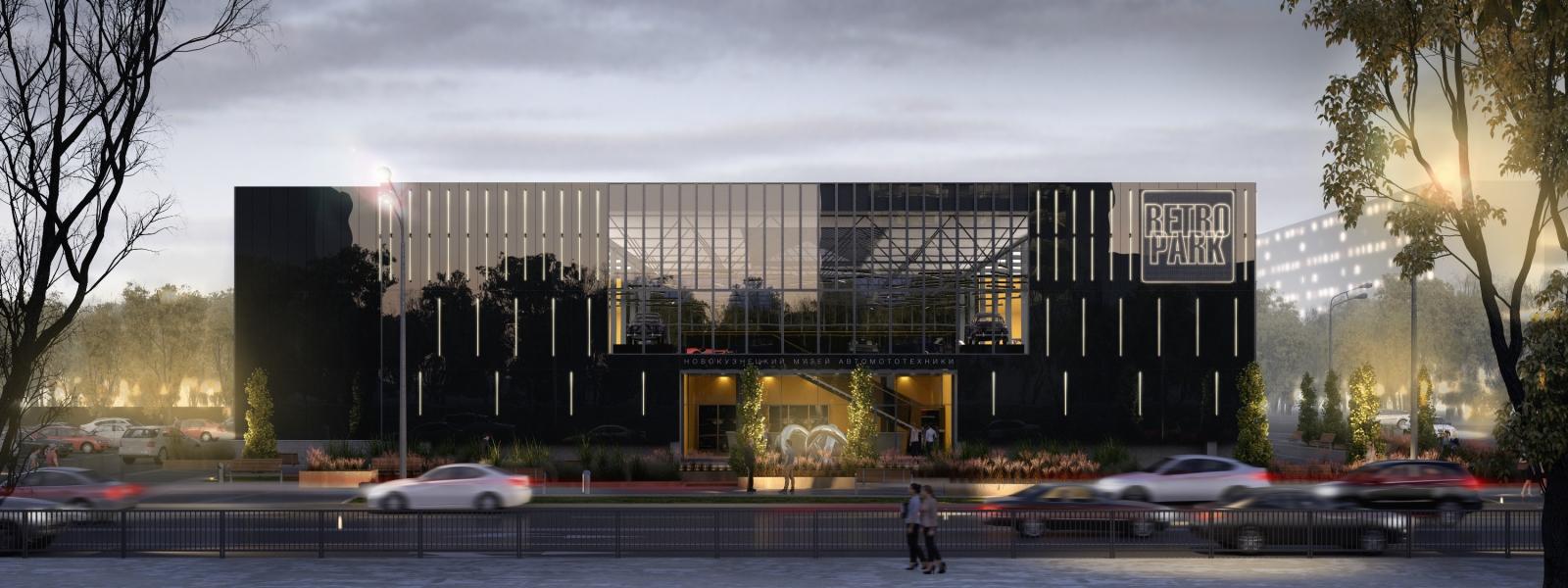 work-Концепция многофункционального комплекса с выставочным залом музея автомототехники в Новокузнецке