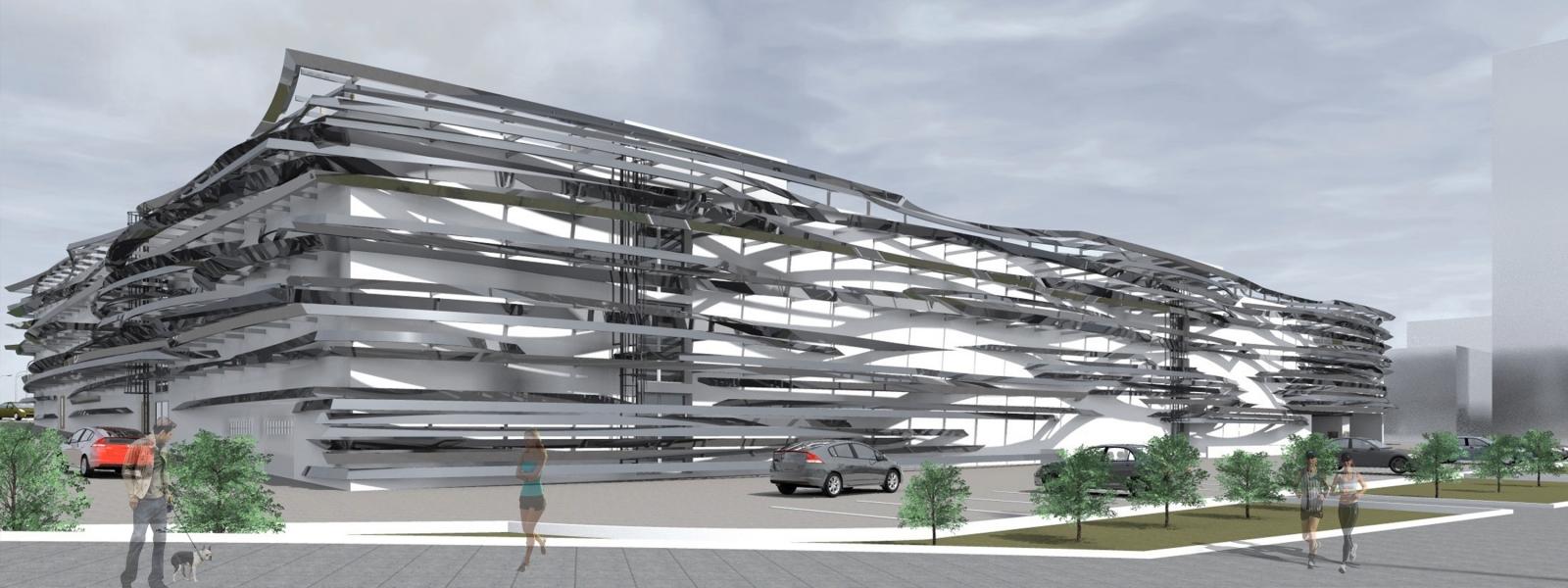 work-Проект гаража на 450 машиномест