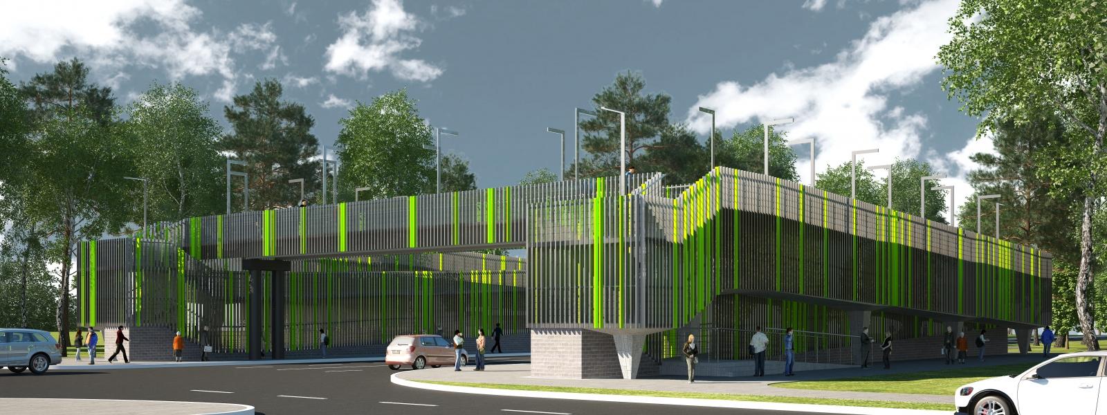 """work-Проект пешеходного перехода в разных уровнях на автомобильной дороге """"Парголово - Огоньки"""""""