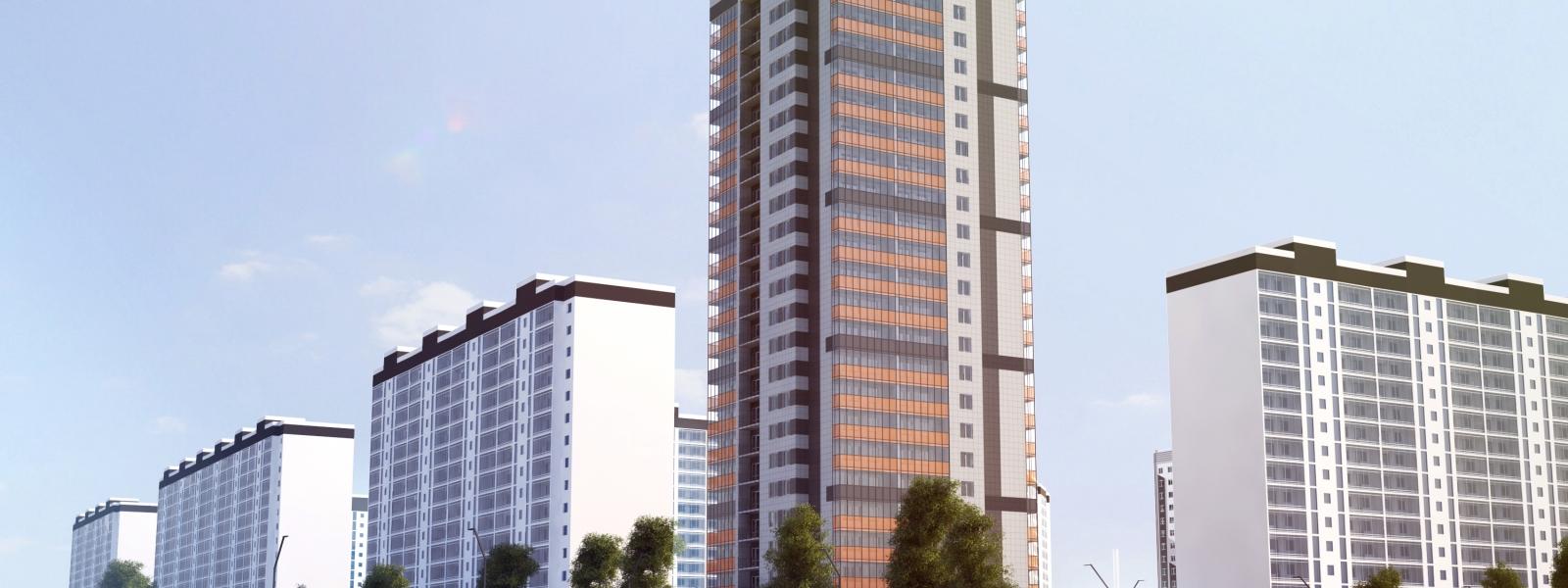 work-Многоэтажное жилое здание по ул. Береговая, 2Д в Томске