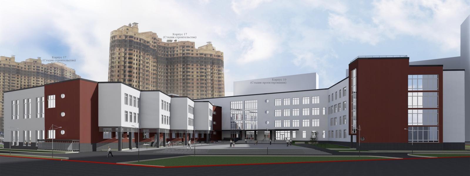 work-Проект общеобразовательной школы на 825 мест в Санкт-Петербурге