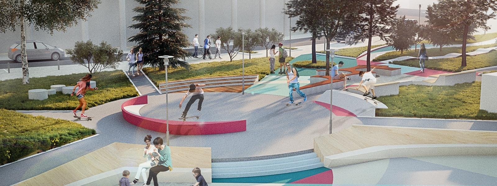 work-Карманный парк как новая типология парков и общественных пространств в городе Иркутске