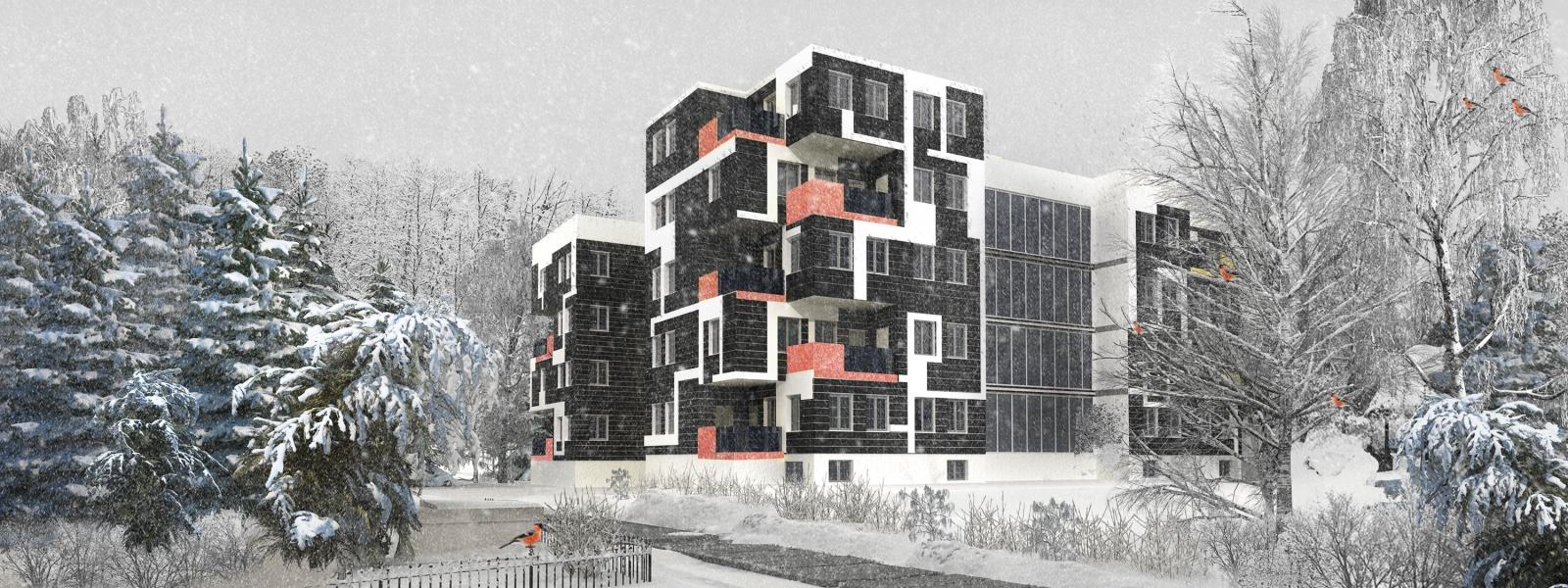 work-Жилой дом средней этажности