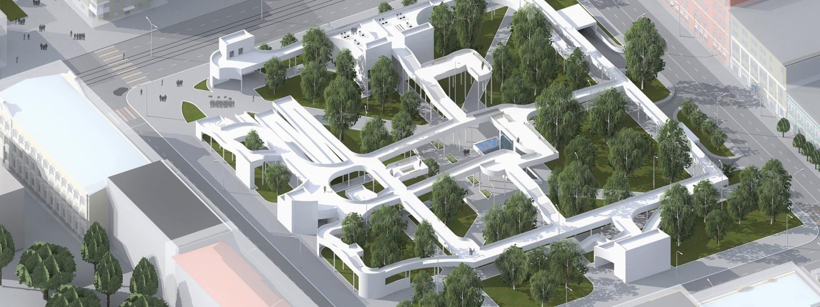 work-Проект реконструкции сквера Высоцкого в Самаре