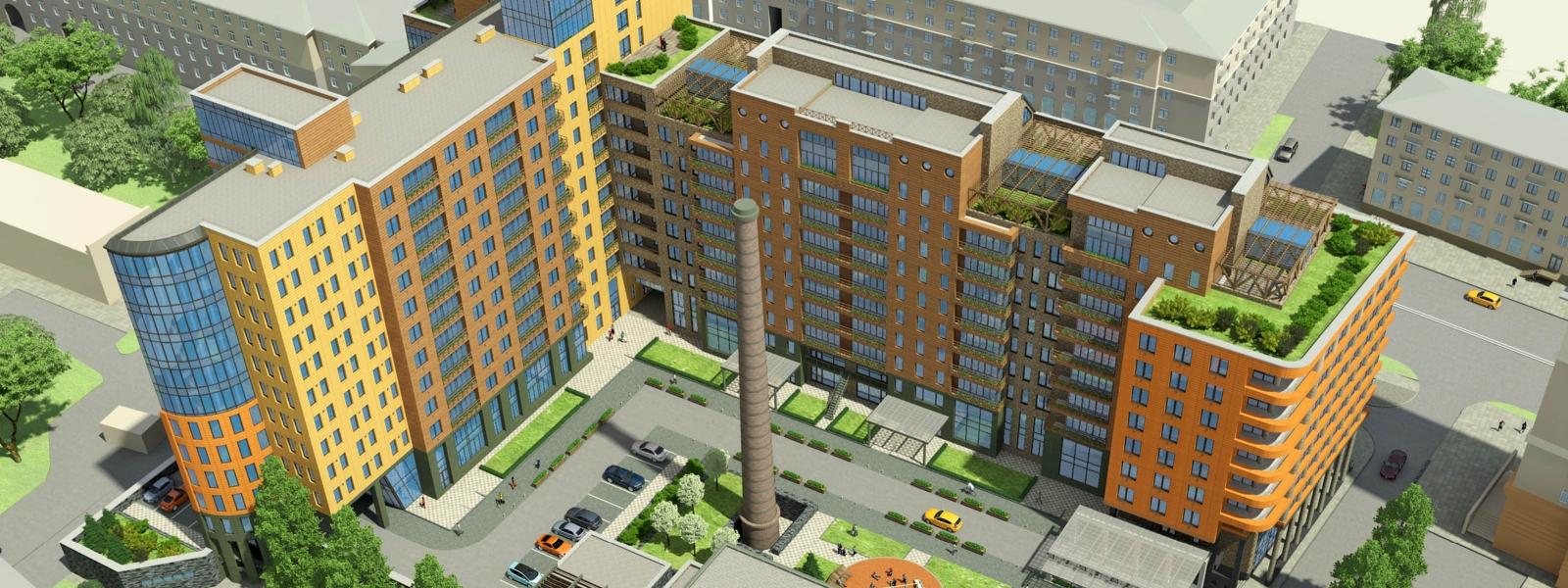 work-Жилой комплекс со встроенными офисными помещениями по пр. Маркса в Омске