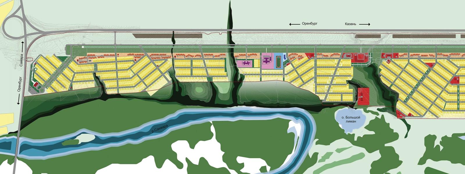 work-Проект планировки территории поселка на 8500 жителей