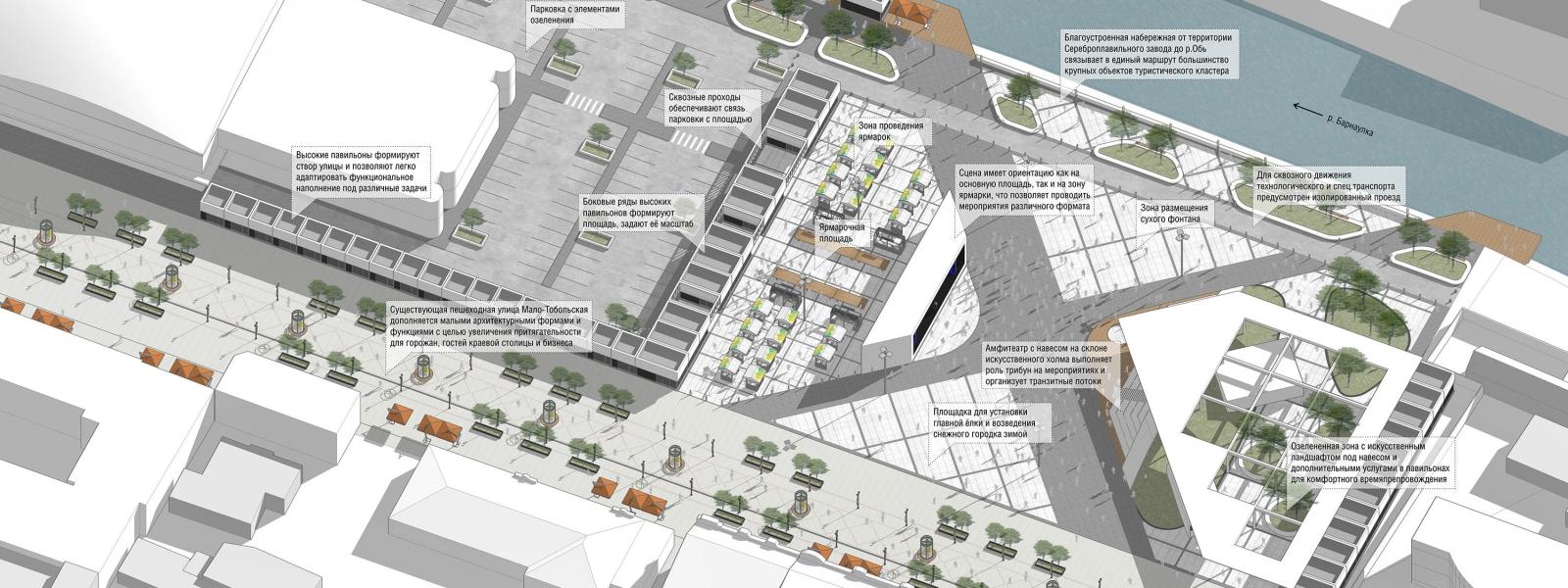 work-Концепция формирования новой городской площади в туристическом кластере Барнаула