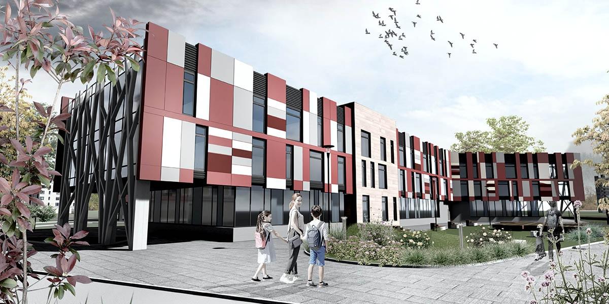work-Концепция школы на 1200 мест в Калуге