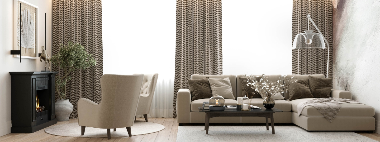 work-Проект интерьера квартиры «Нега»