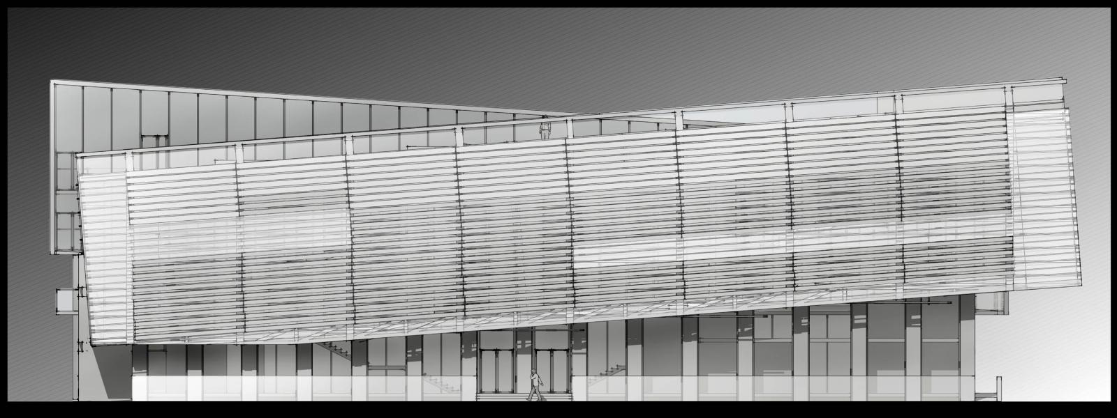 work-Архитектурная концепция реконструкции существующего здания по адресу: Москва, ул. Колмогорова 1, стр. 54 под учебный корпус МГУ «Центр Интеллект»