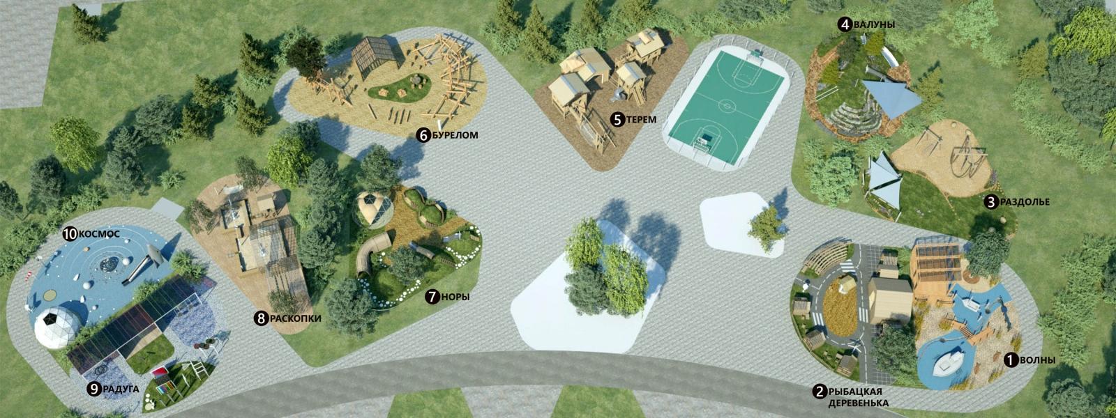 work-Игровые площадки в образовательном комплексе «Точка будущего» в городе Иркутске