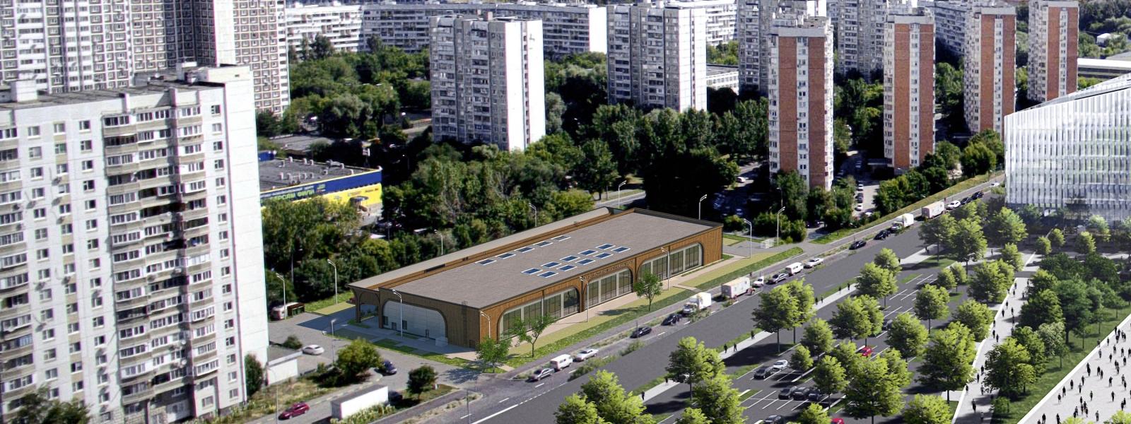 work-Современный энергоэффективный объект для размещения спортивно-развлекательного комплекса, расположенный в московском городском районе Фили