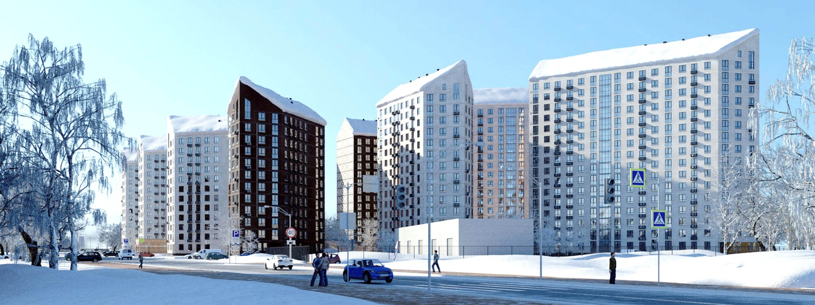 work-Концептуальный жилой комплекс «ЛАДОГА» в Калининском районе Новосибирска