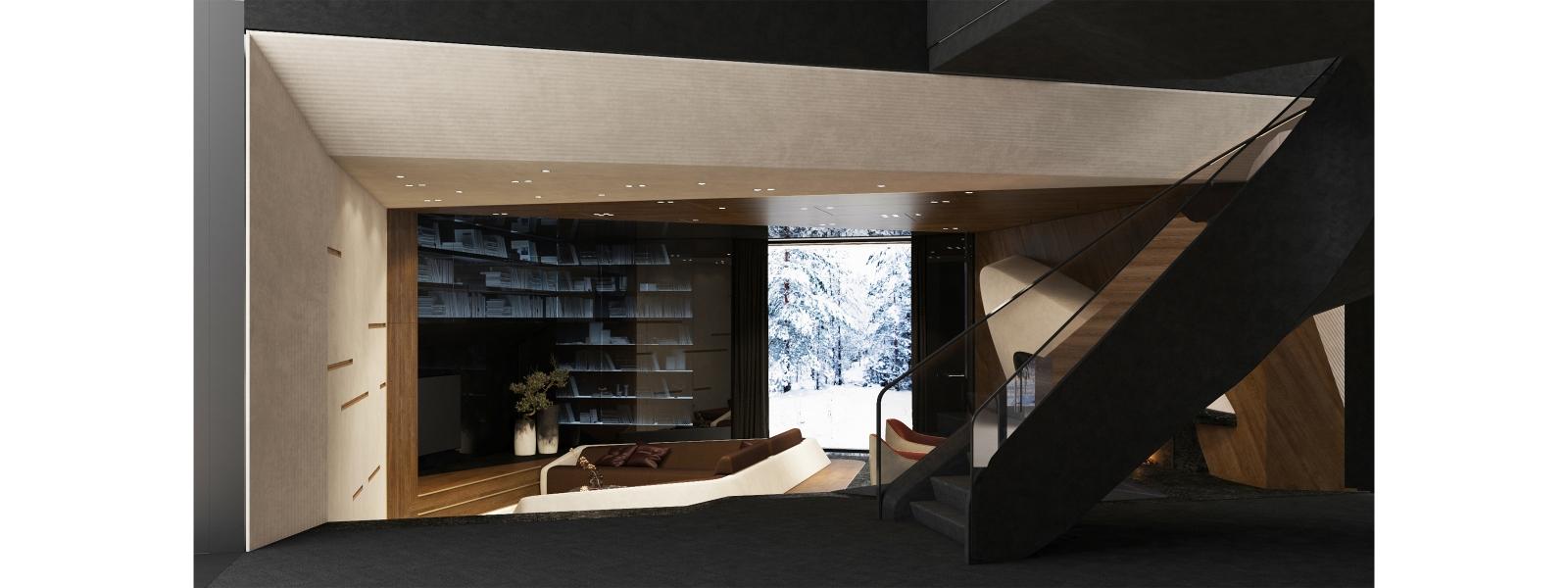 work-Интерьер индивидуального жилого дома «Villa Prizmatiq»